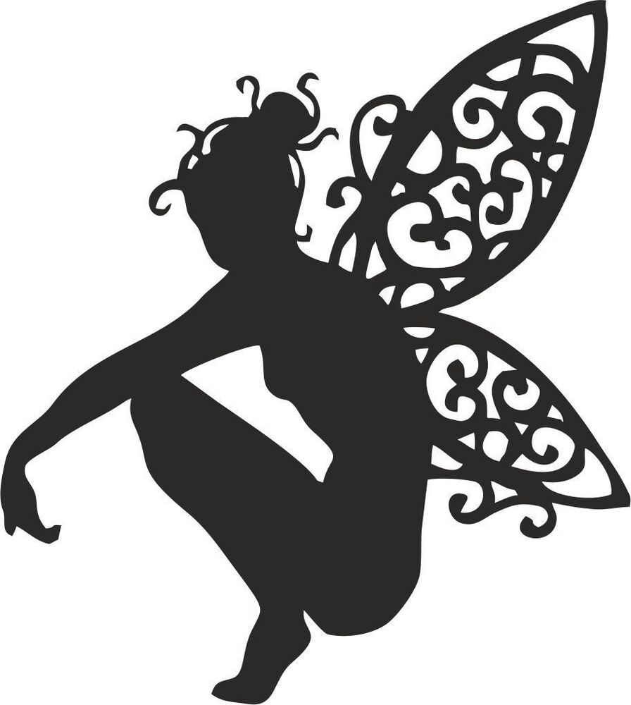 This is a photo of Juicy Fairy Silhouette Printable