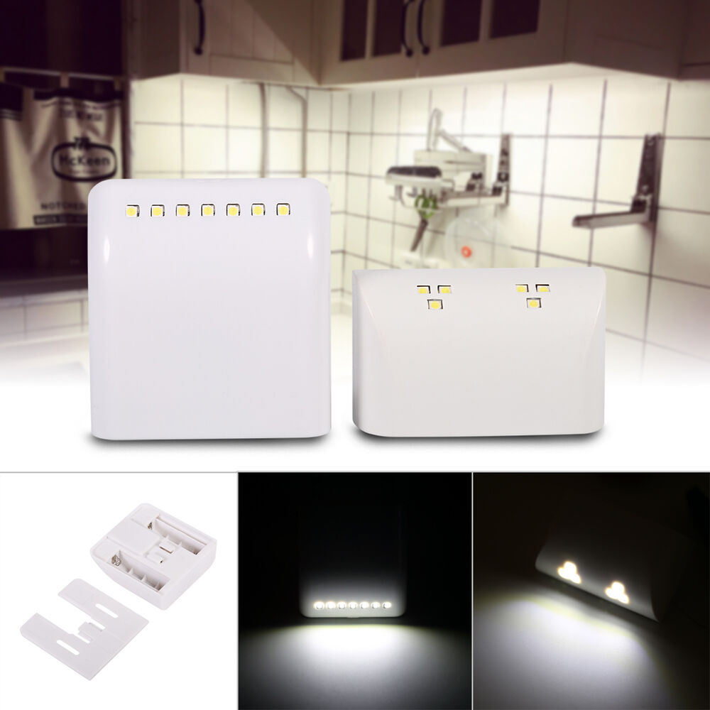 6/7 LED Sensor Light Cabinet Wardrobe Kitchen Cupboard