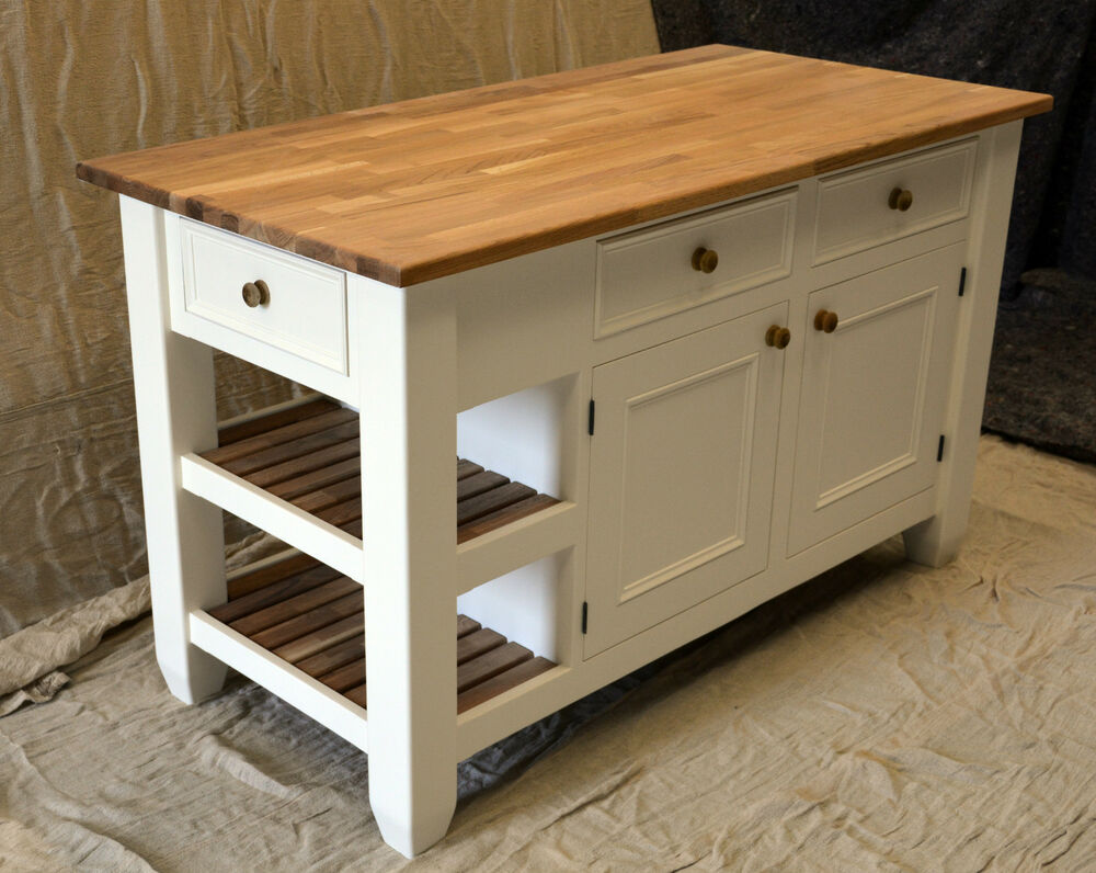 solid wood kitchen island kitchen island handmade solid wood painted ebay 22063