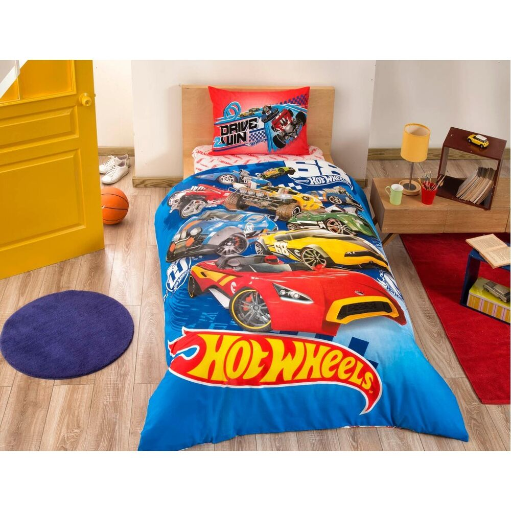 hot wheels cars 100 cotton bedding set doona quilt duvet cover set single twin ebay. Black Bedroom Furniture Sets. Home Design Ideas