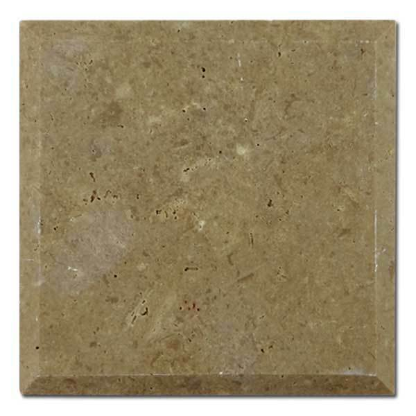 Noche Travertine Tile 4x4 Honed Beveled Square Foot Price