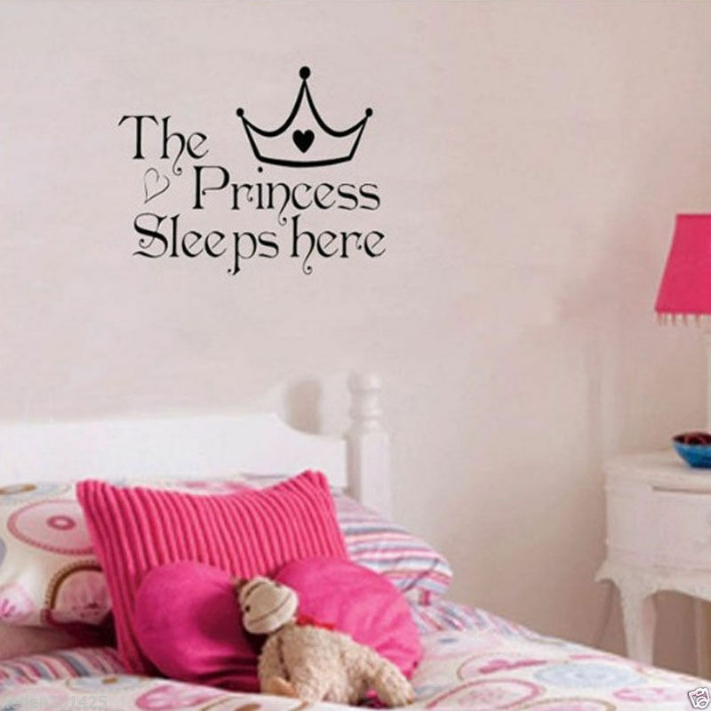 1x removable princess sleep wall stickers art vinyl decals baby