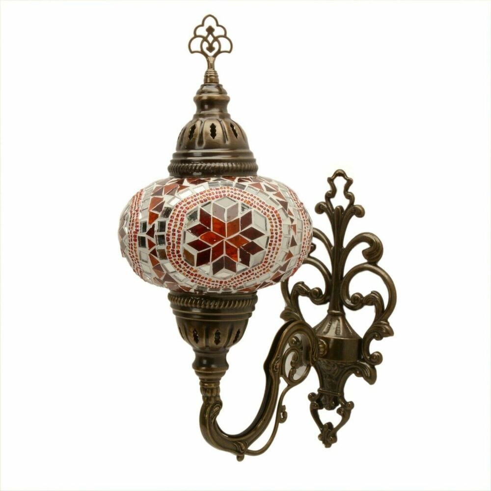 Moroccan Style Wall Lights : Handmade Turkish Moroccan Style Mosaic Wall Sconce Lamp Light Large Globe eBay