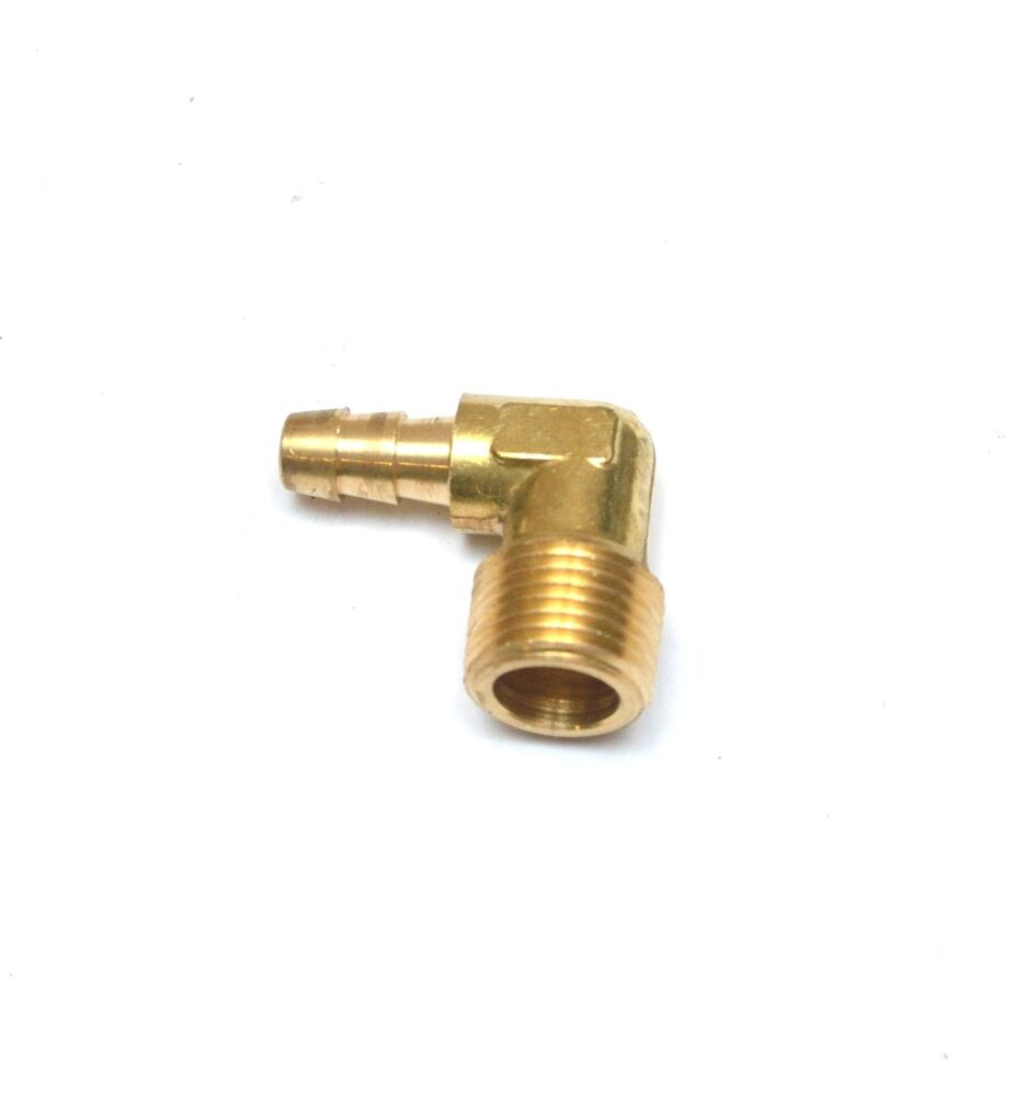 Male barb elbow quot hose npt fitting