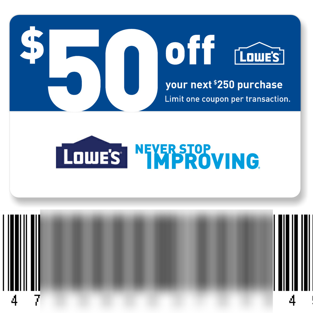 photograph relating to Lowes 50 Off 250 Printable Coupon called My lowes coupon codes / Jelly abdomen retail outlet london