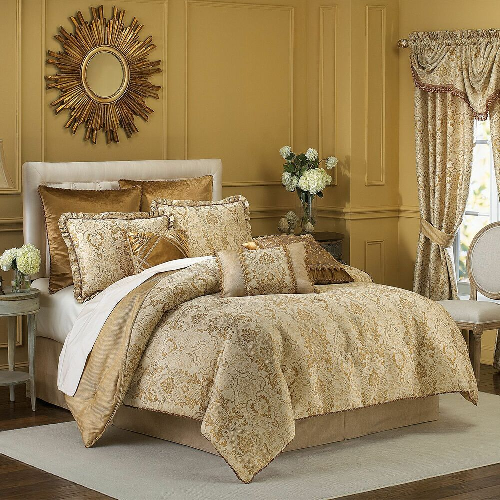Croscill excelsior 4 piece queen comforter set gold b511 - Bedroom sheets and comforter sets ...
