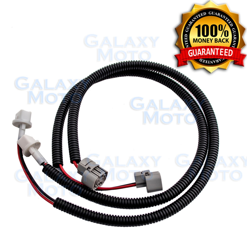 2pc 24 fog light extension cable wire harness cover for. Black Bedroom Furniture Sets. Home Design Ideas