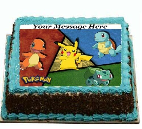 Edible Cake Images Pokemon : Pokemon Go Cake topper edible image icing party birthday ...