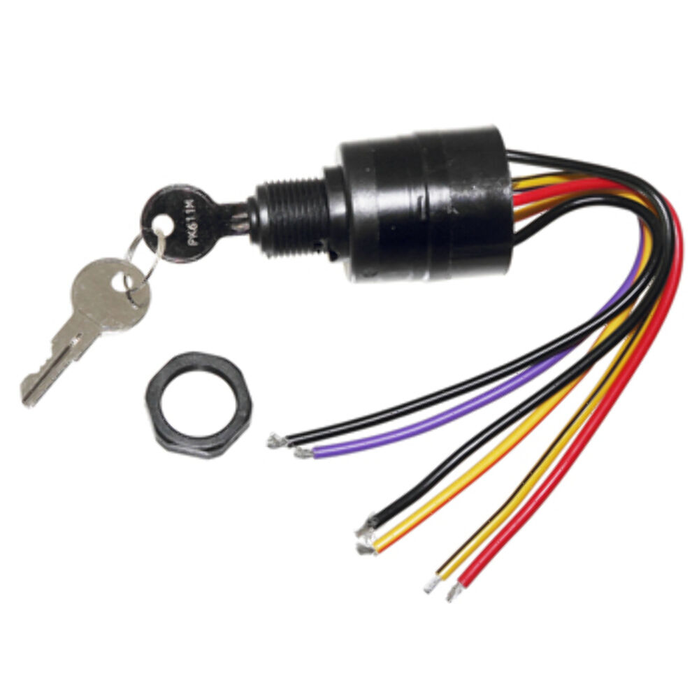 mercury ignition switch nib mercury ignition key switch 6 wire push to choke replace 17009a2 a5 outboard