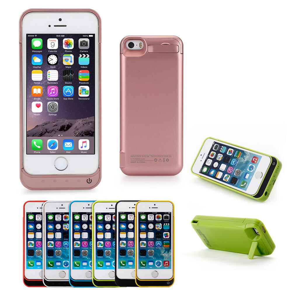 iphone 5 charging case iphone 5 5s charging 4200mah external battery power 14507