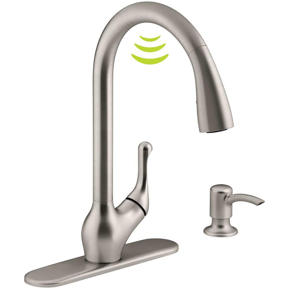 kohler barossa r78035 sd vs touchless stainless steel pull