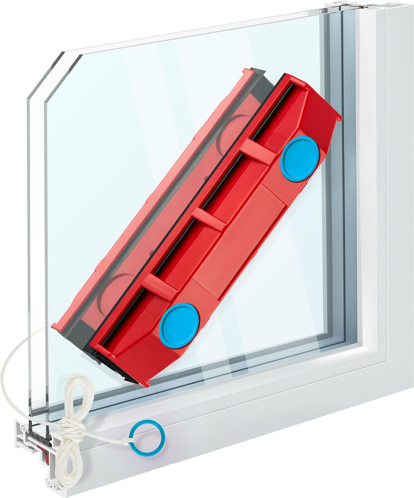 Glider d 2 magnetic window cleaner double glazed glazing for Double glazed window glass