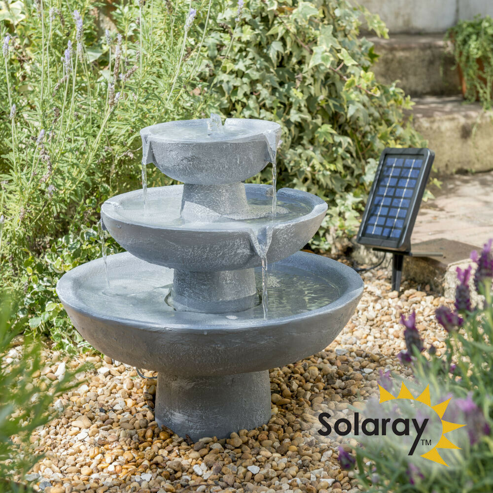 hatfield solar kaskaden brunnen im stein effekt wasser. Black Bedroom Furniture Sets. Home Design Ideas