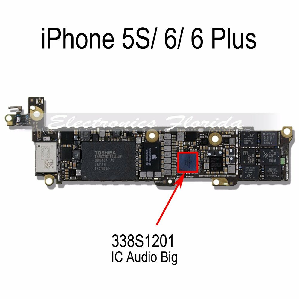 iphone 5s speaker not working ic 338s1201 audio big ic chip replacement for iphone 5s 6 17502