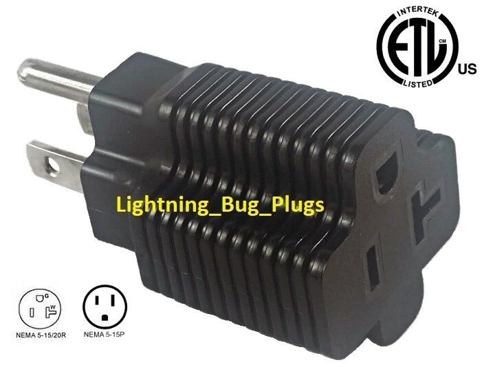 NEW! Male 15 Amp to 20 Amp Female Plug T-Blade Adapter 3 ...