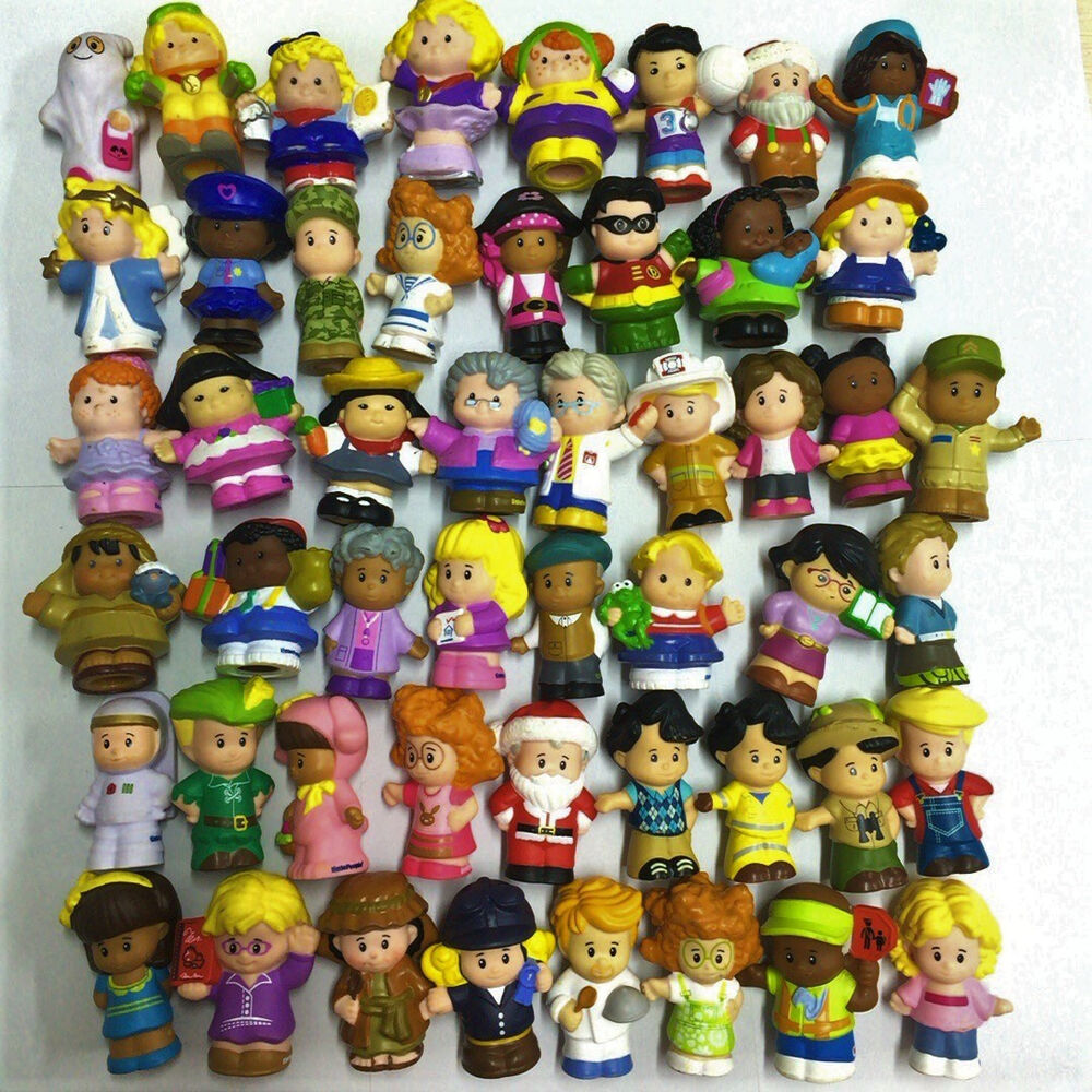 Random 10pcs - Fisher Price Little People Collection ...