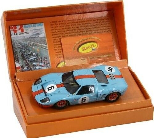 SLOT IT SICW09 FORD GT40 GULF #6 LIMITED EDITION 1\/32 SLOT CAR - eBay