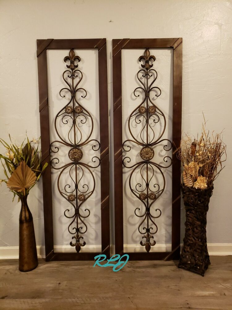 Antique Scroll Art: Antique Vintage French Victorian Brown Wood Metal Scroll