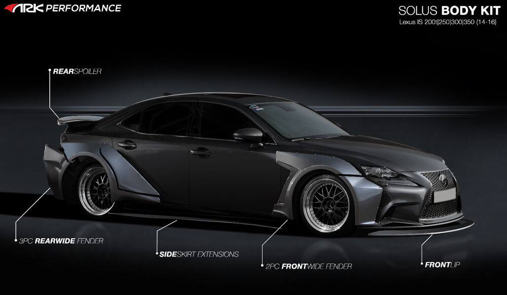 2014 2016 lexus is250 is350 ark performance solus wide body kit fiberglass ebay. Black Bedroom Furniture Sets. Home Design Ideas