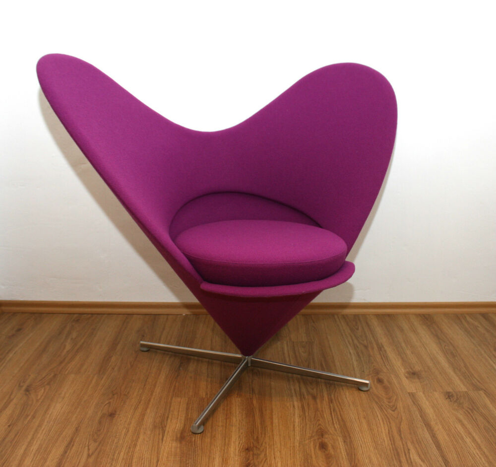 original vitra heart cone chair verner panton designer sessel plus linje lux366 ebay. Black Bedroom Furniture Sets. Home Design Ideas