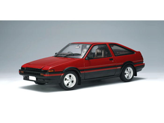 toyota sprinter trueno ae86 gt apex red 1 18 by autoart. Black Bedroom Furniture Sets. Home Design Ideas