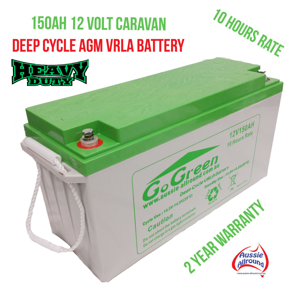 12v 150ah caravan battery 42kg deep cycle agm vrla solar led camping caravan ebay. Black Bedroom Furniture Sets. Home Design Ideas