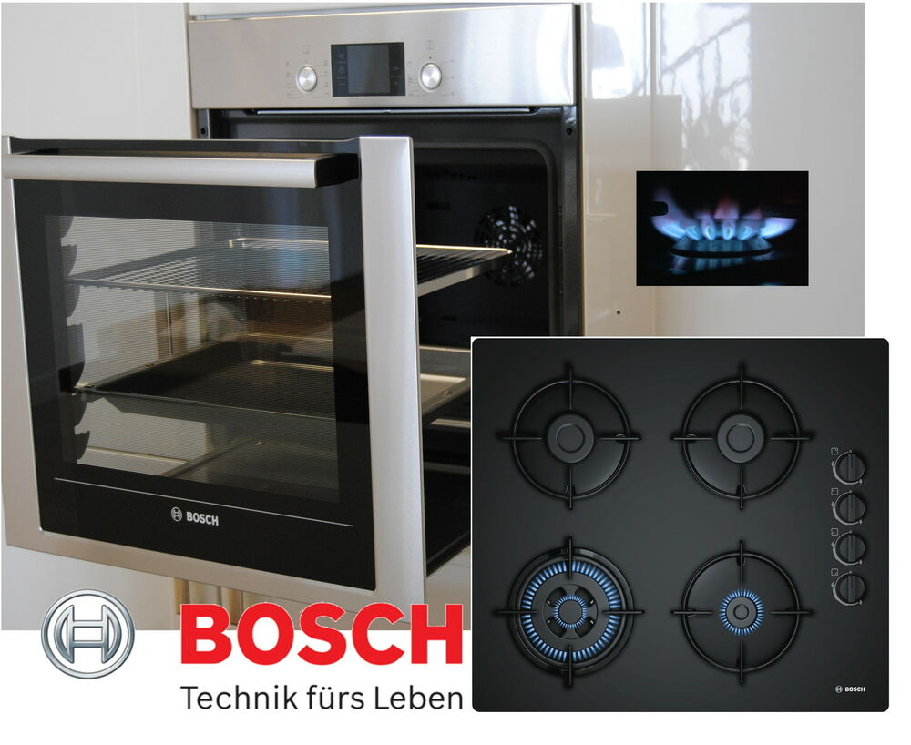 gas herd set bosch herdset autark backwagen backofen gas glaskeramik kochfeld ebay. Black Bedroom Furniture Sets. Home Design Ideas