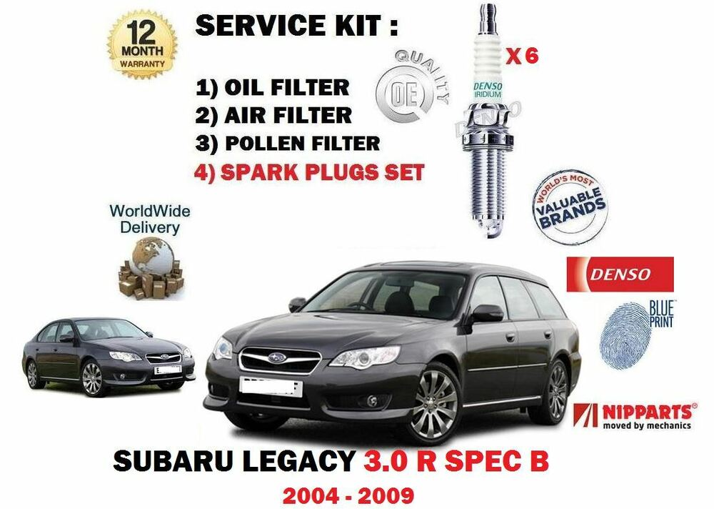 for subaru legacy 3 0 r spec b 2004 oil air pollen 3. Black Bedroom Furniture Sets. Home Design Ideas