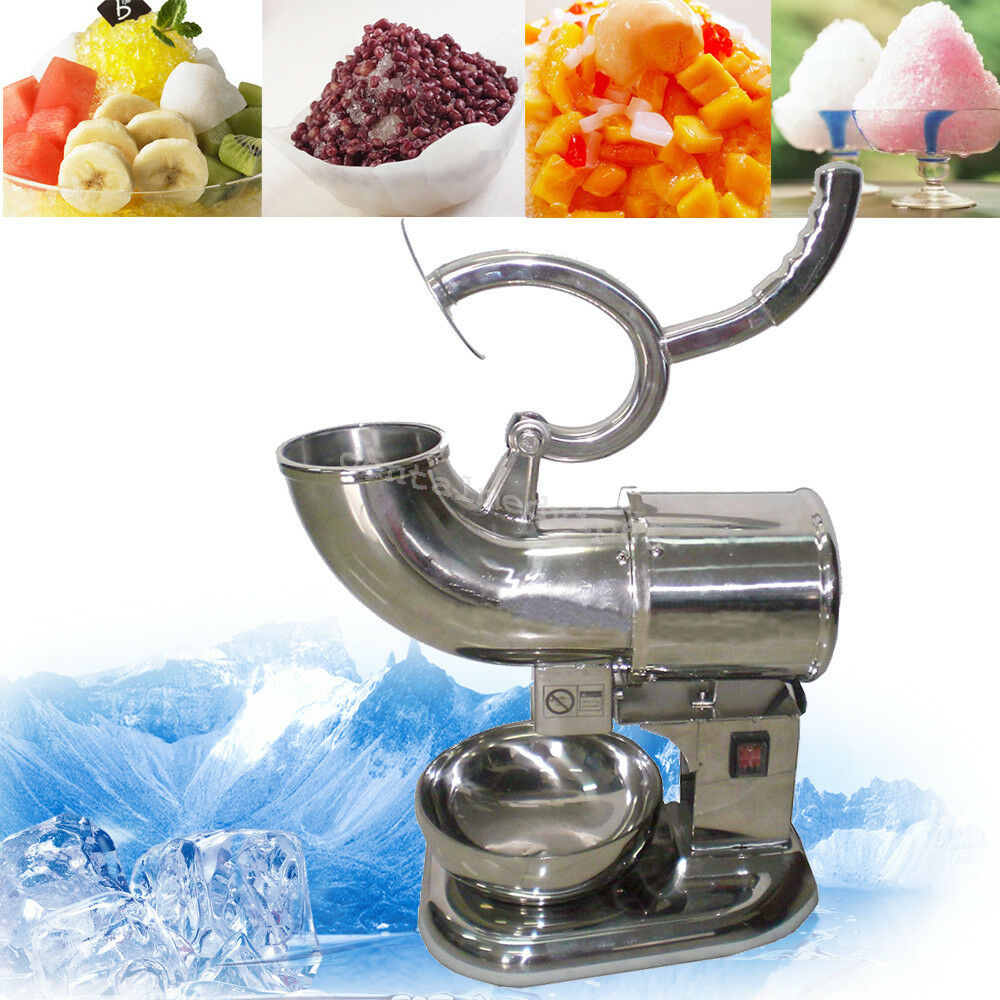 From US! 400lbs 220W Ice Shaver Sno Snow Cone Maker Shaved ...