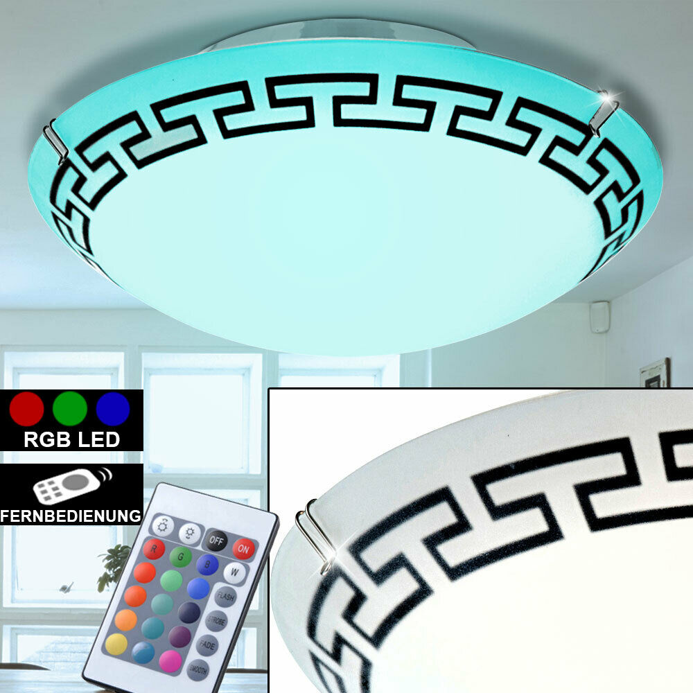 rgb led deckenlampe fernbedienung wohnzimmer leuchte dimmbar durchmesser 29 cm ebay. Black Bedroom Furniture Sets. Home Design Ideas