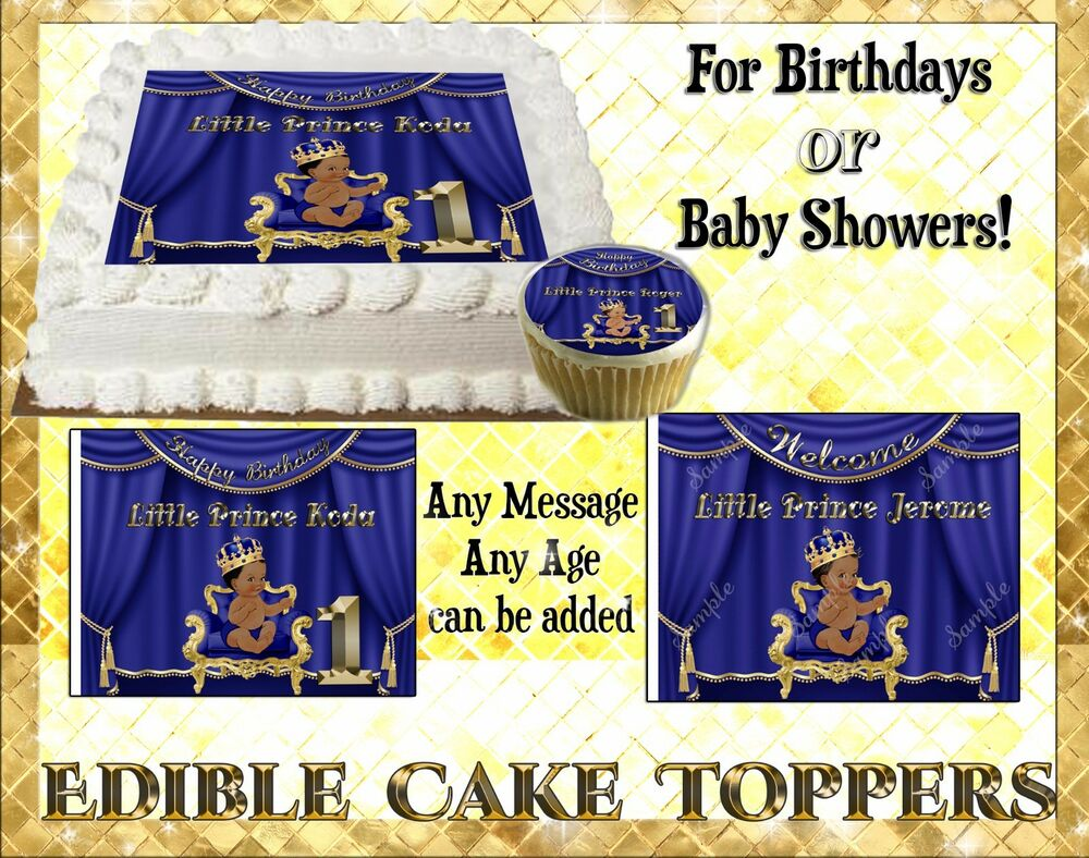 Little Prince edible baby shower Cake Cupcake toppers ...