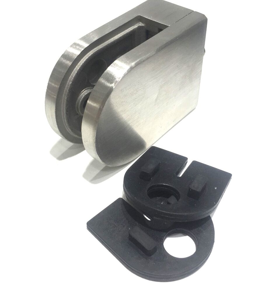 Glass clamp stainless steel clip flat back bracket for