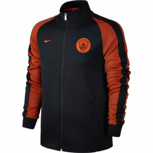 067b760a1f Details about Nike Manchester City FC LU Soccer Jacket 2016 - 2017 New Navy  Black   Orange