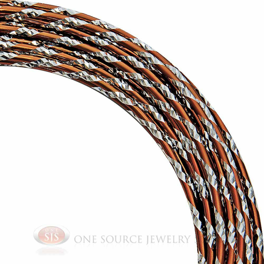 Copper and silver diamond cut aluminum craft wire 12 gauge for 10 gauge craft wire