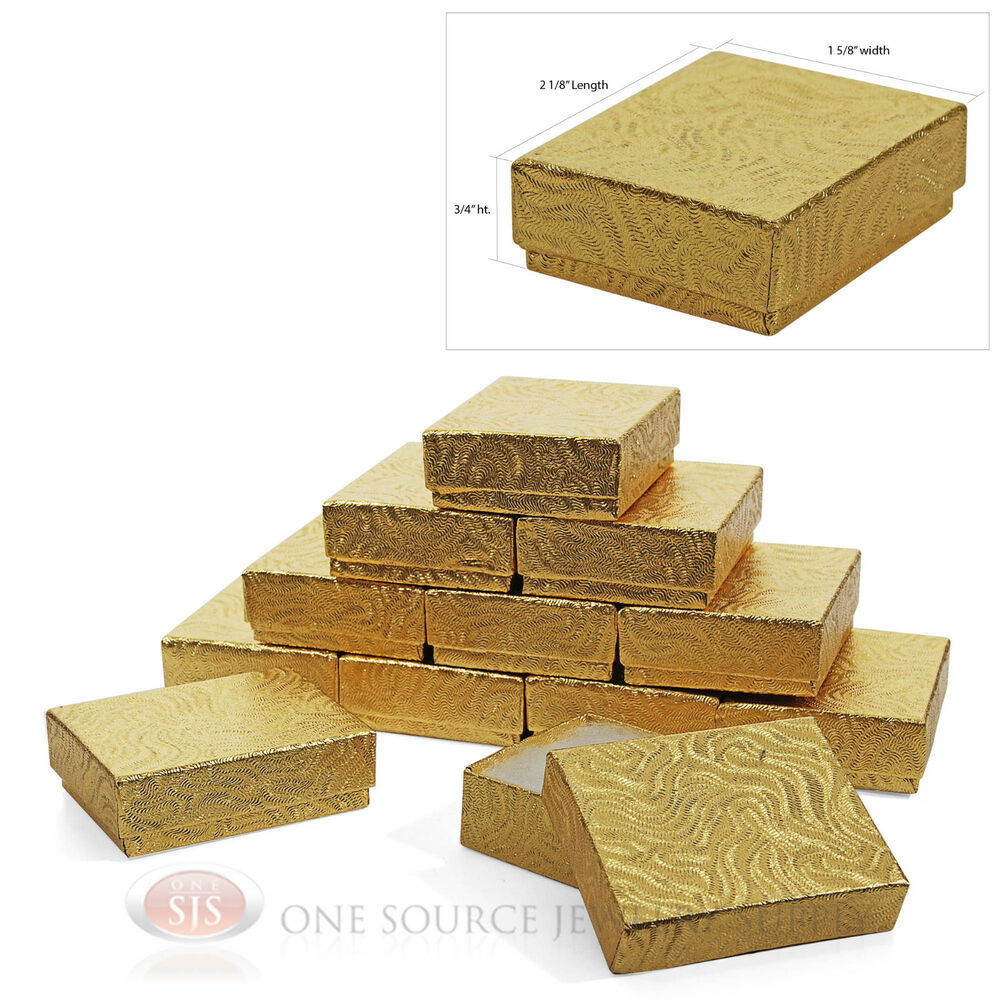 Gift Box Gold : Gold swirl cotton filled gift boxes quot