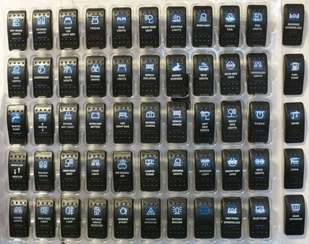Carling Arb Rocker Switch Covers Only    See Other Listings For Switches