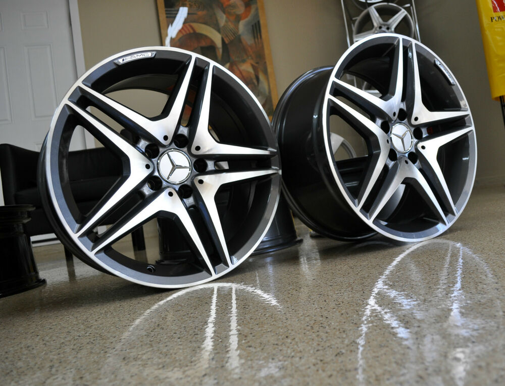 Mercedes 19 inch 63 gunmetal wheels rims new fits s550 for Mercedes benz 19 inch amg wheels