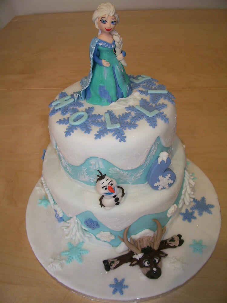 Elsa Edible Cake Decoration : Frozen edible cake toppers ELSA OLAF SVEN eBay