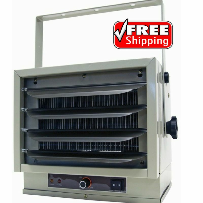 electric garage heater large commercial space basement utility ceiling