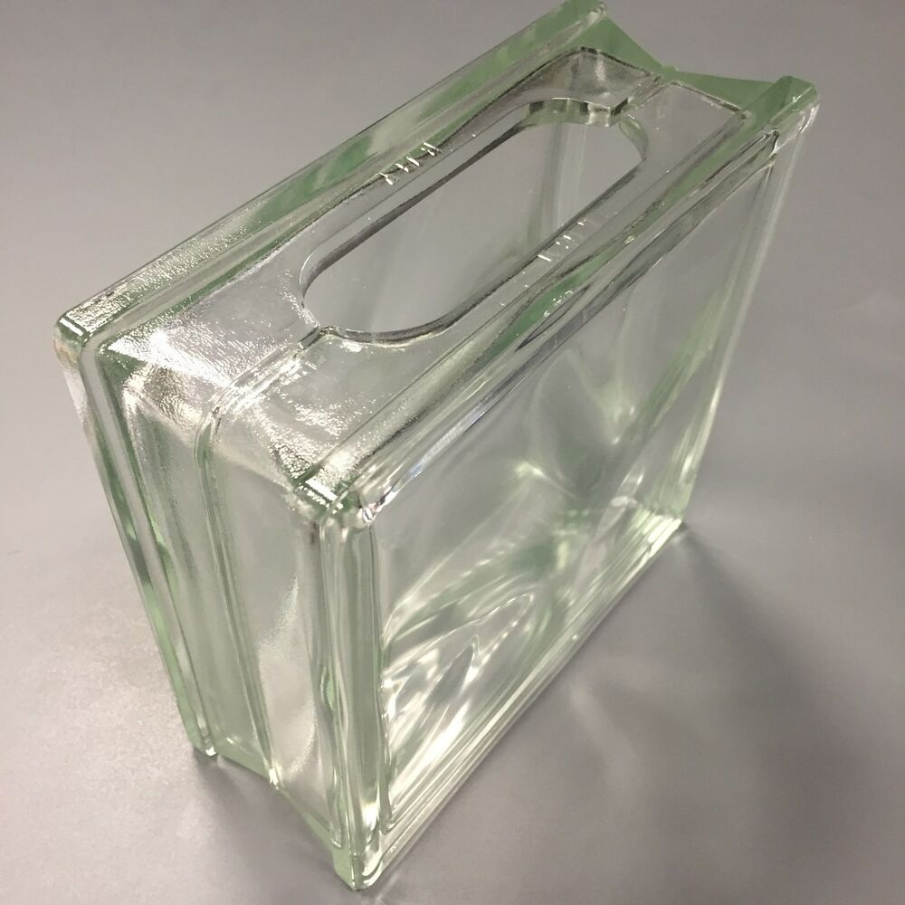 craft glass block flemish pattern wavy clear