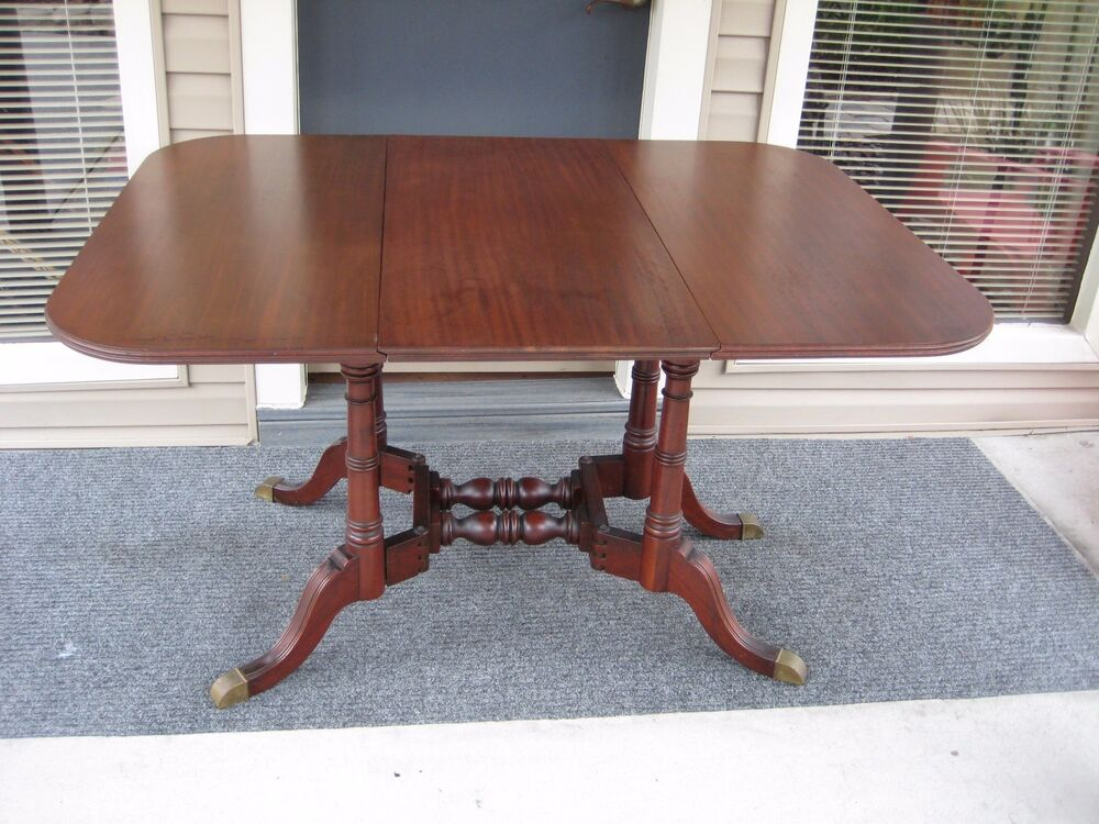 Wooden Table With Leaves ~ Antique hathaway ny mahogany wood drop leaf leaves gate