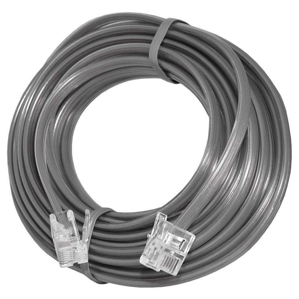 25 FT RJ11 4C Modular Telephone Extension Phone Cord Cable Line Wire ...