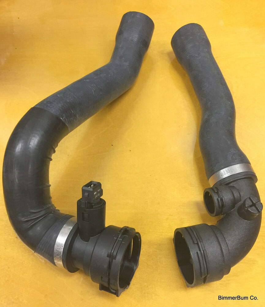 OEM BMW E46 M3 Upper & Lower Radiator Hose Set W/ Aux Fan