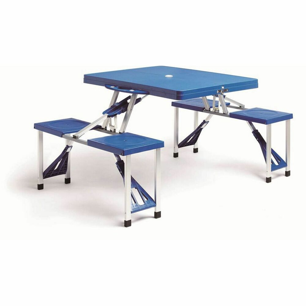 Folding Picnic Table And Chairs Stool Camping Bbq Outdoor