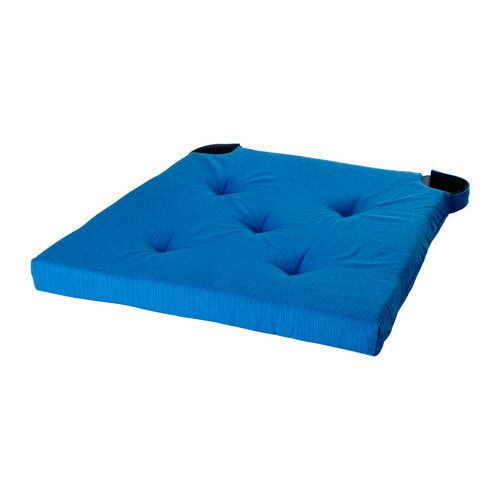 ikea justina chair pads seat cushions blue colour ebay. Black Bedroom Furniture Sets. Home Design Ideas