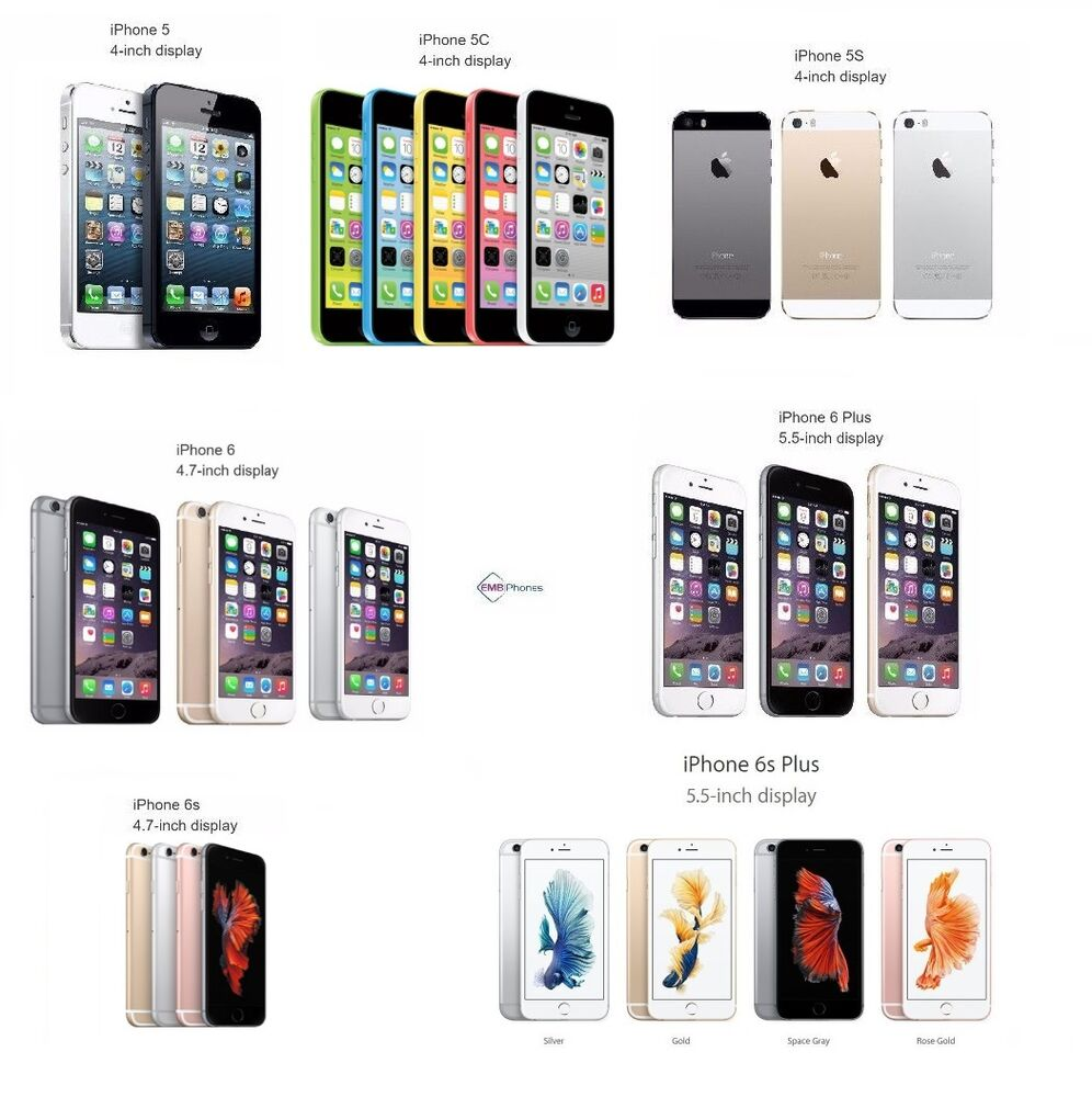 Apple iPhone 5, 5C, 5S, 6, 6 Plus, 6S, 6S Plus - GSM ...Iphone 5 6 7