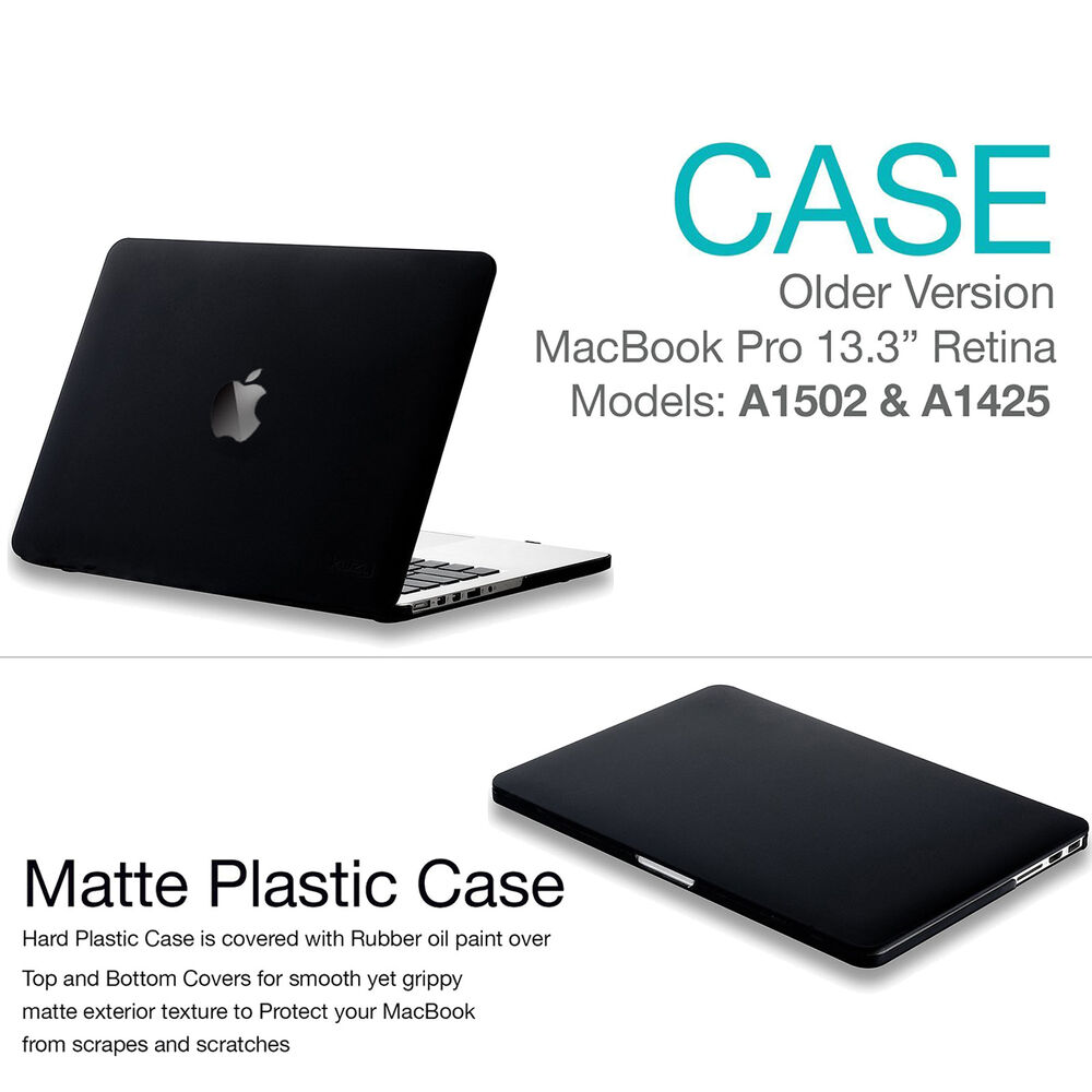 hard case cover macbook pro 13 inch with out touch bar 2016 new a1706 a1708 ebay. Black Bedroom Furniture Sets. Home Design Ideas