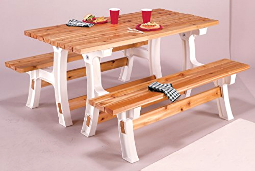 Folding Picnic Table Bench Kit Patio Outdoor Convertible