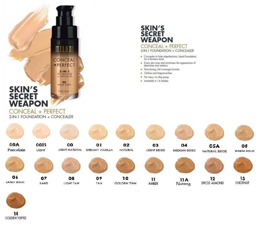 milani conceal & perfect liquid foundation