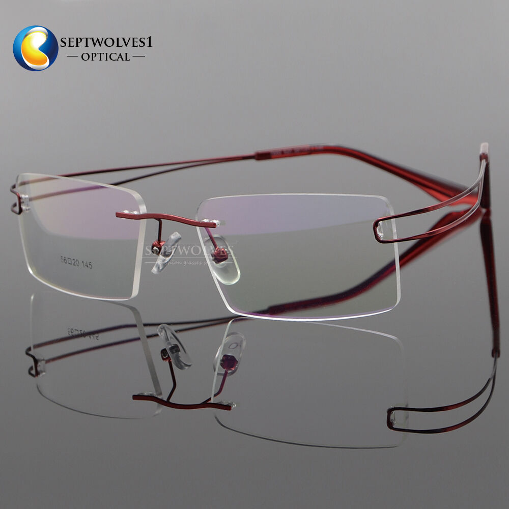 new titanium alloy rimless reading glasses